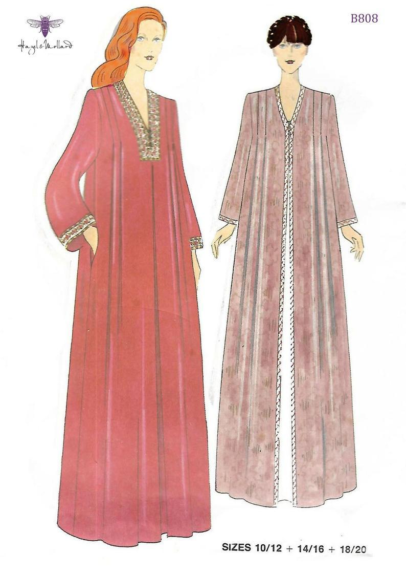 Vintage Sewing Pattern Women's Kaftan Caftan Dressing Gown image 0