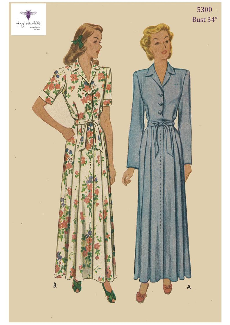 Reproduction Vintage 1940's Sewing Pattern Women's image 0
