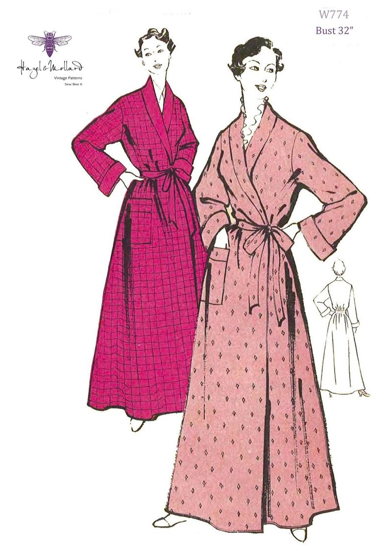 1950's Vintage Sewing Pattern: Women's Dressing Gown image 0