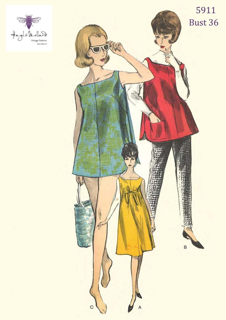 Vintage 1960's Sewing Pattern Vogue Maternity Bathing image 0