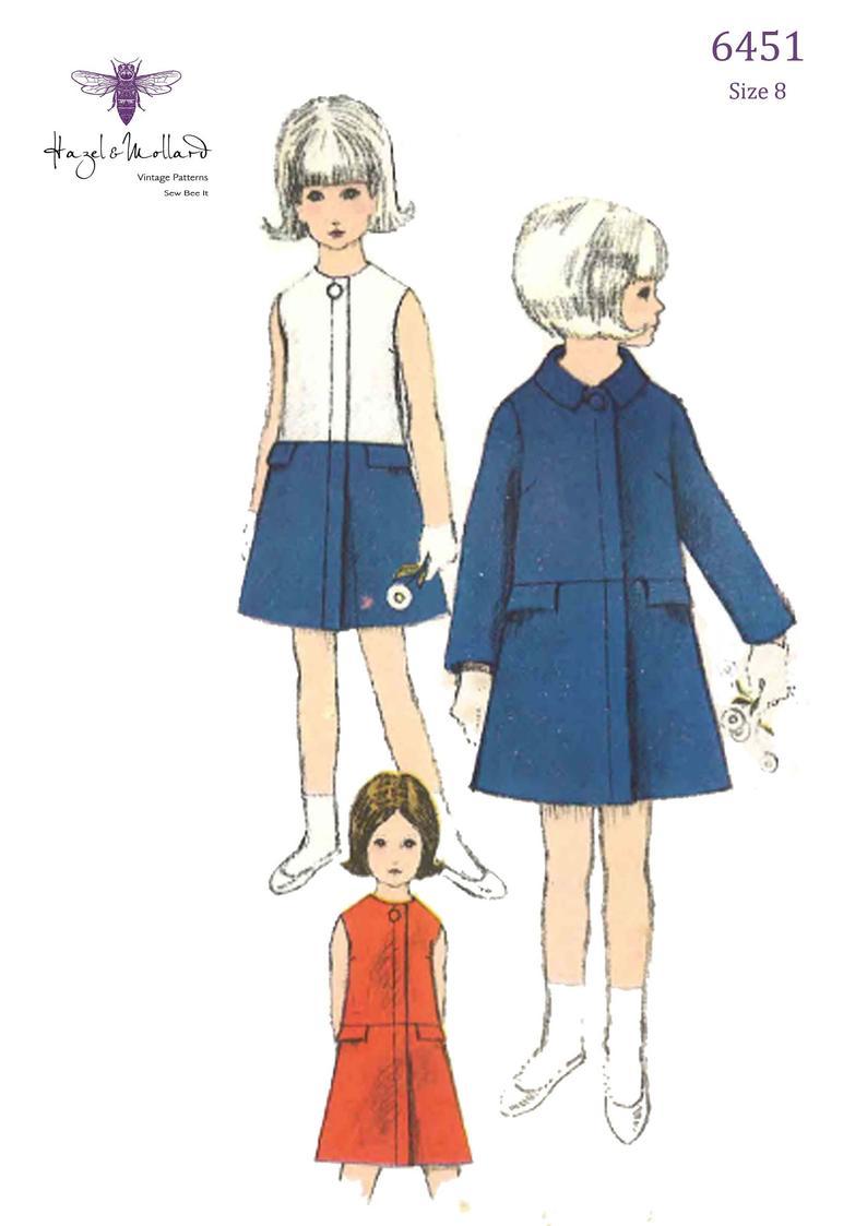 Vintage 1960's Sewing Pattern: Girl's Coat & Dress image 0