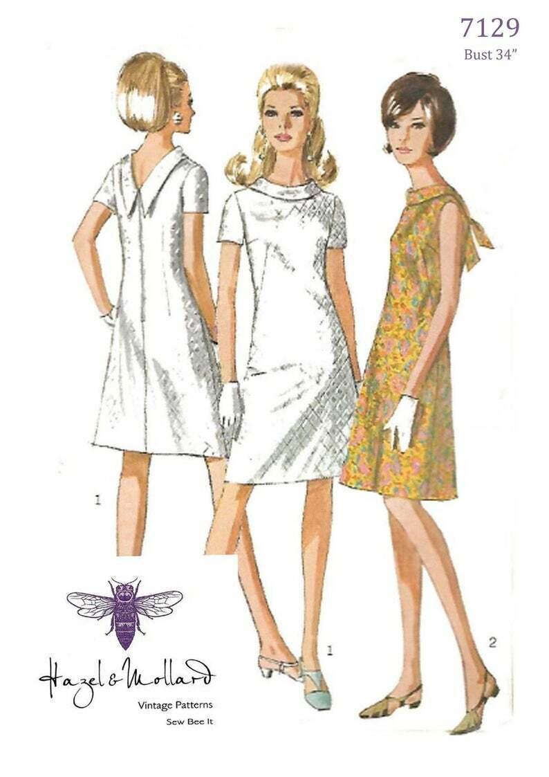 Vintage 1960's Sewing Pattern:  A-Line V-Back Jiffy image 0