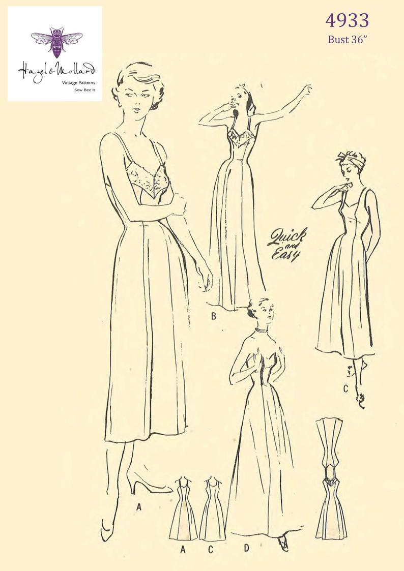 Vintage 1940's Sewing Pattern: Vintage Evening Slip image 0