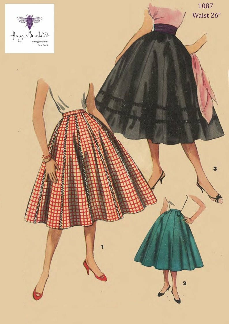 Vintage 1950's Sewing Pattern: Rockabilly  Flared Full image 0
