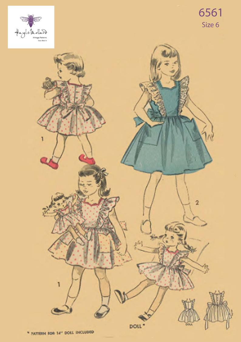 Vintage 1950's Sewing Pattern: Alice in Wonderland image 0