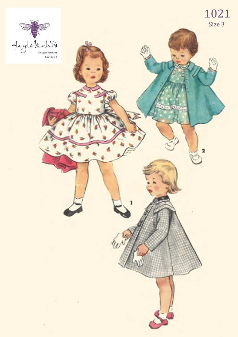 Vintage 1950's Sewing Pattern: Girl's Toddler's image 0