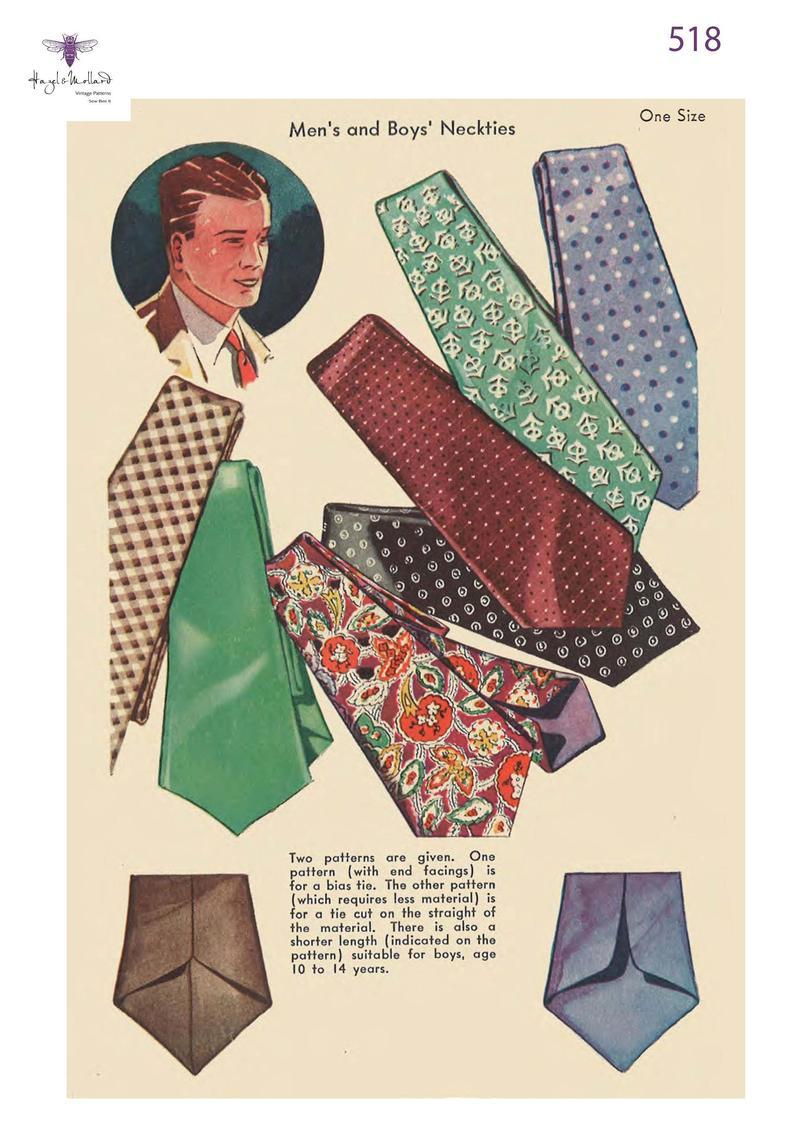 Vintage 1930's Sewing Pattern: Men's & Boys' image 0