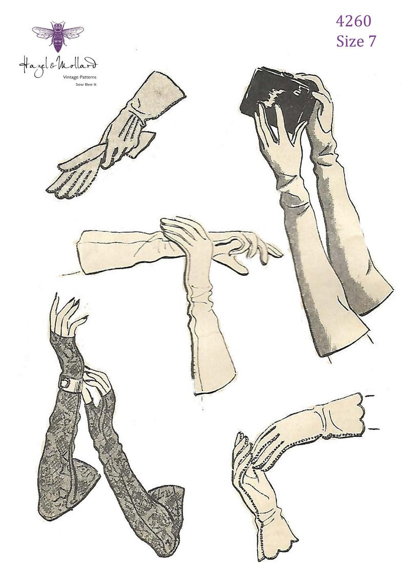 Vintage 1940's Sewing Pattern: Set of Tailored Gloves Day image 0