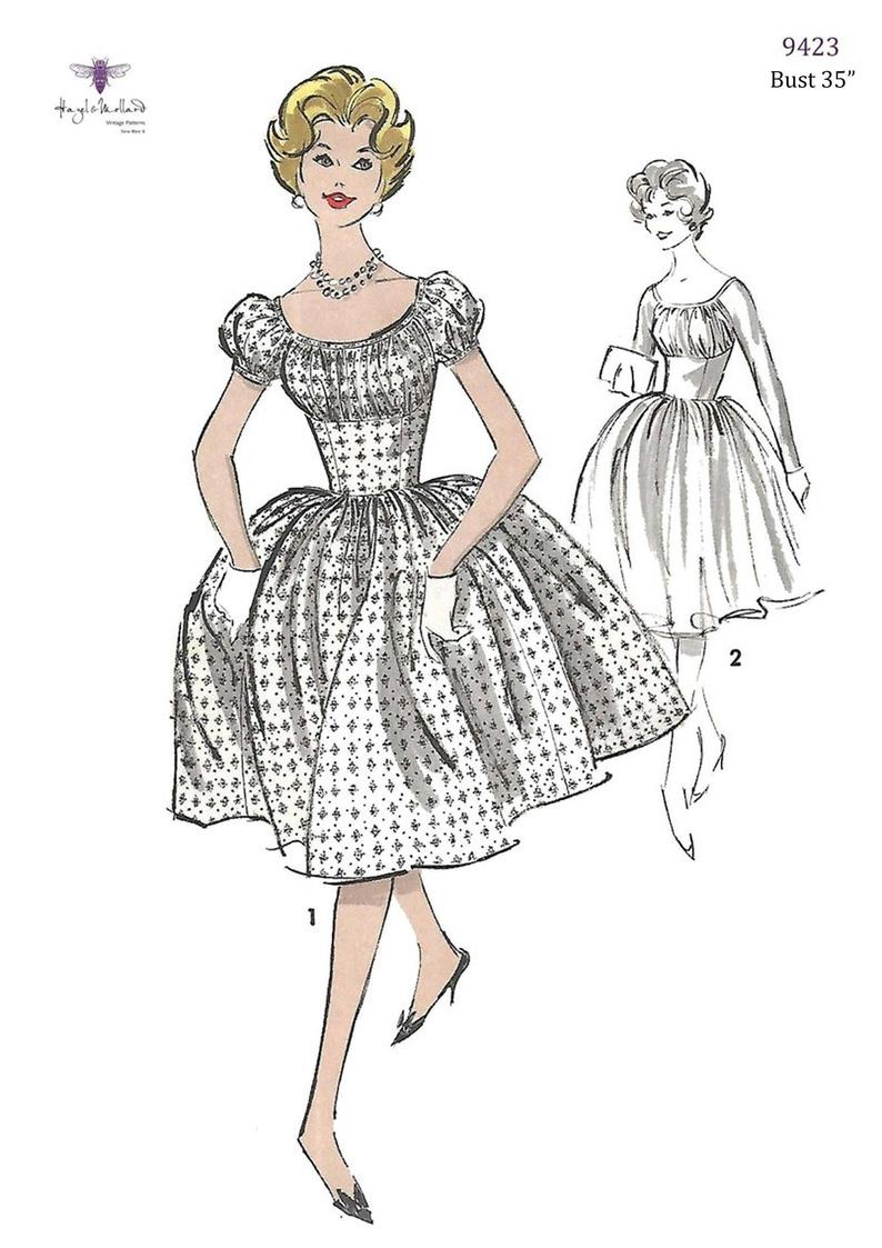 Vintage 1950's Sewing Pattern Reproduction  Marilyn Style image 0