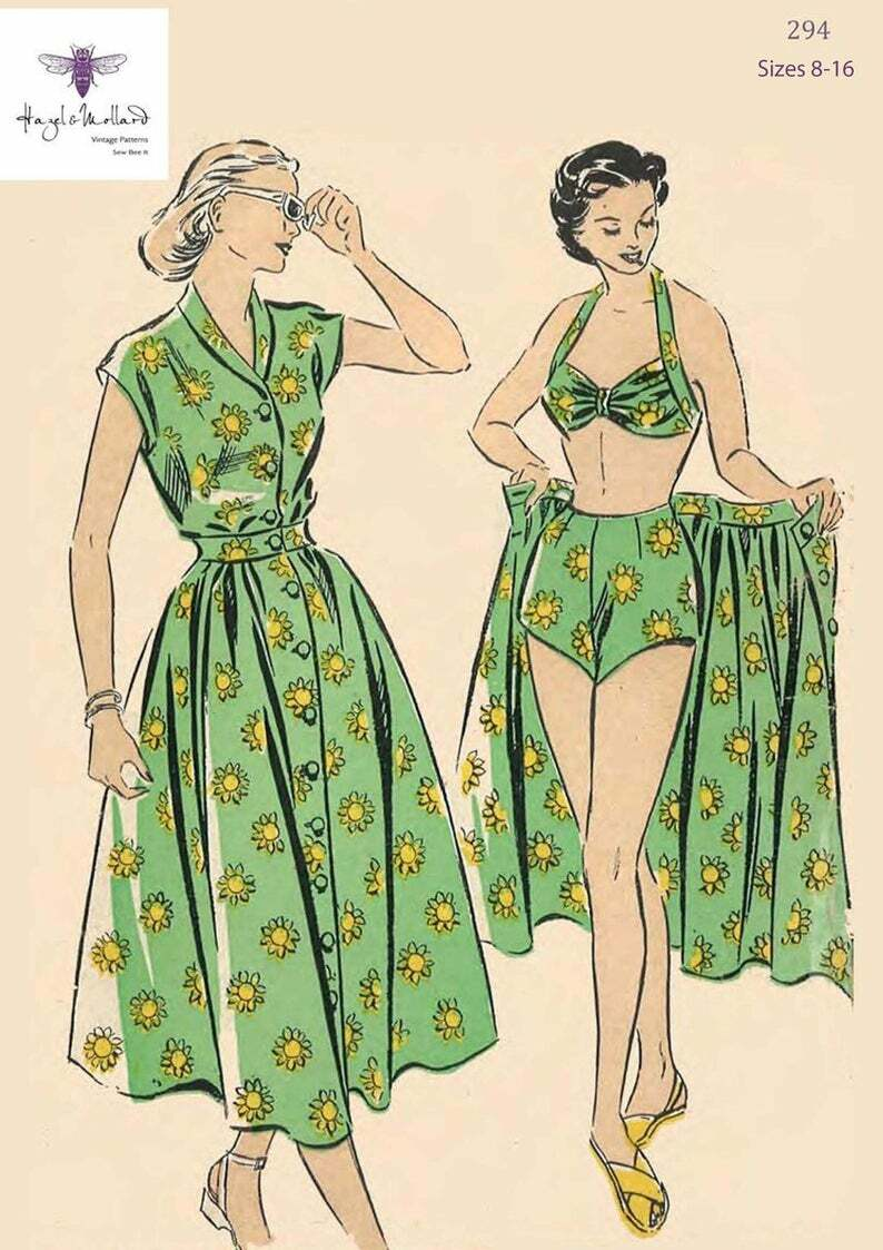 Vintage Inspied 1940's / 1950's Sewing Pattern: Four image 0