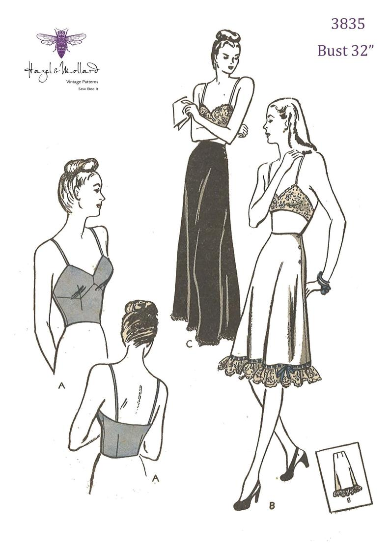 Vintage 1940's Sewing Pattern Women's Bra and image 0