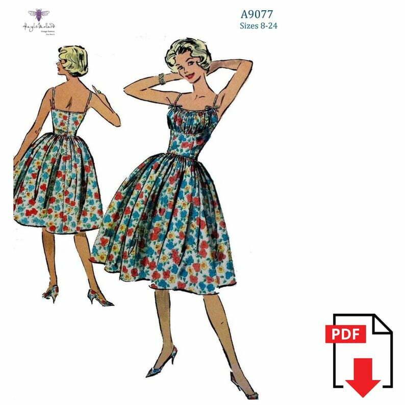 Vintage 1950's 50s Sewing Pattern: Rockabilly  Marilyn image 0