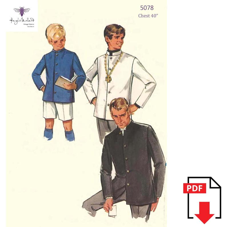 Vintage 1960's Sewing Pattern:  Men's Nehru Jacket  image 0