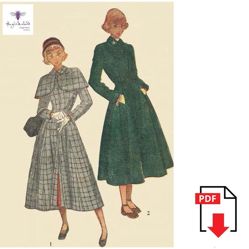 Vintage Inspired  1940's Sewing Pattern WW11 Fitted & image 0