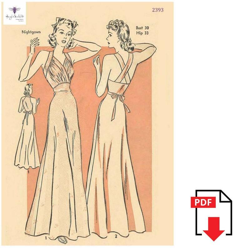 Vintage Reproduction 1930's Sewing Pattern: Elegant Night image 0