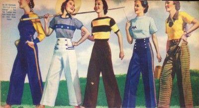 1930s Wide Legged Pants-1930s Fashion for Women's Pants