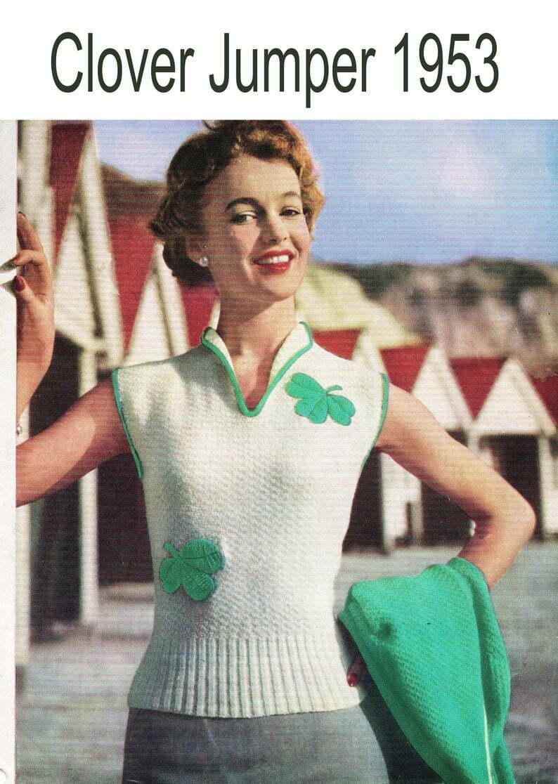 Vintage 1950's Lady's Lucky Clover St patricks day image 0