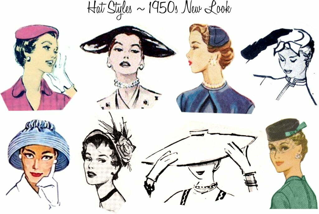 Hats of the 1950s