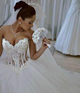 Sweetheart Neckline Princess Wedding Dress
