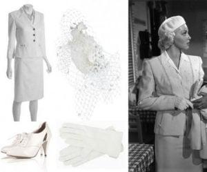 Women's White Wartime Wedding Suit