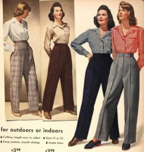 1940s Female Tailored Pants