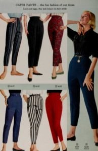 1950s Female Cigarette Pants