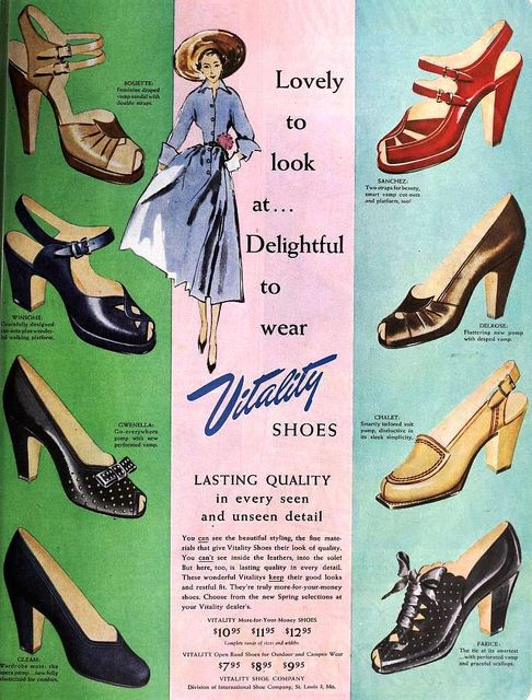 1950s shoes for women
