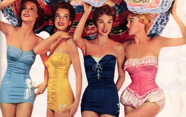 1950s swimsuits