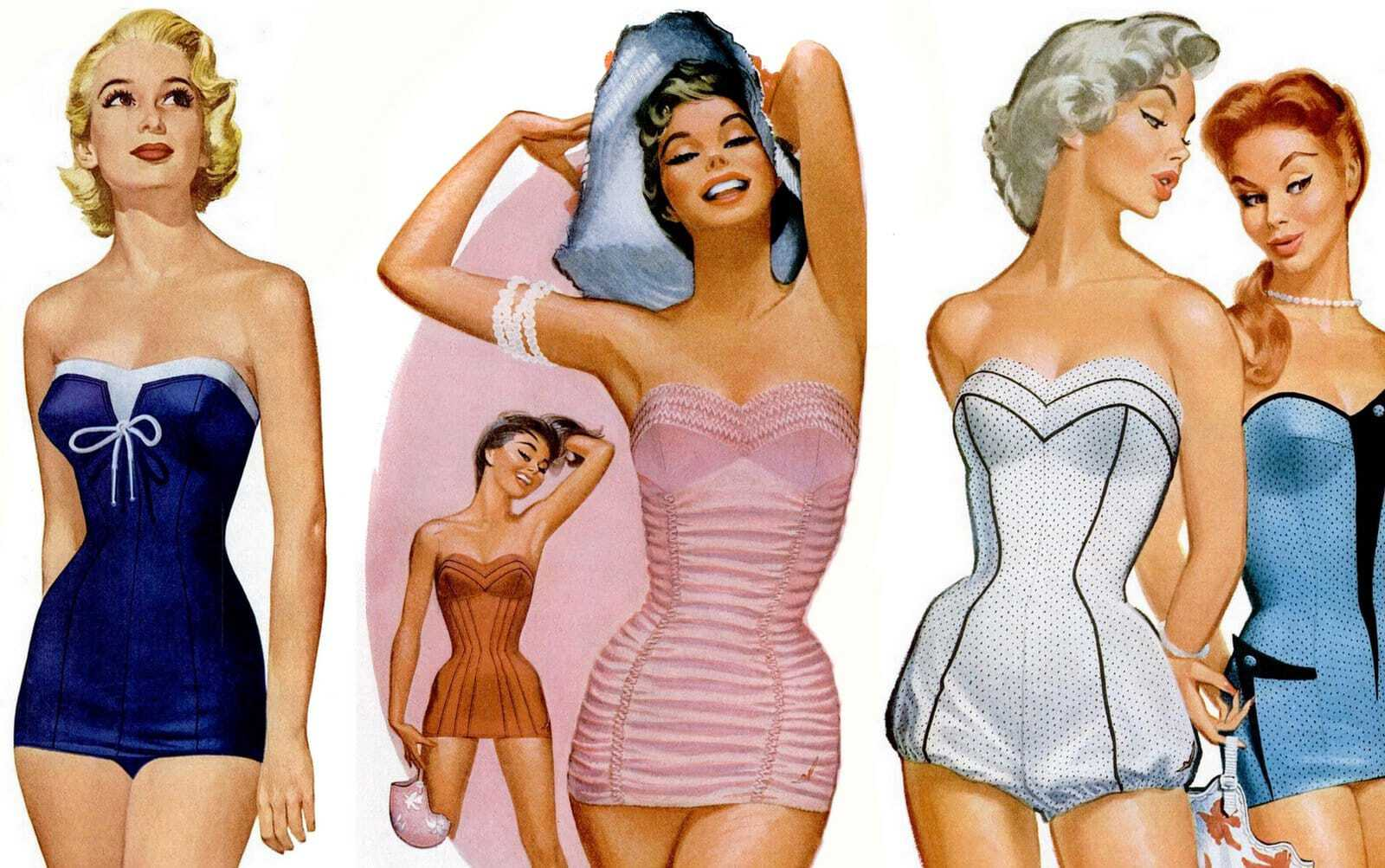 50s swimsuits for women