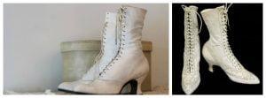 Queen Victoria White Wedding Boots