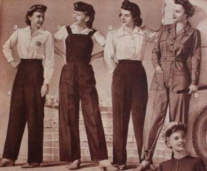 Vintage Ladies Fashion Trousers