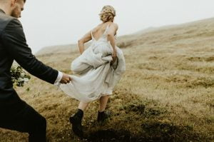 Black Wedding Elopement Boots