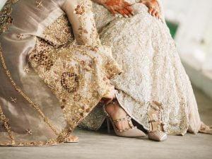 Fashionable Metallic Wedding Boots