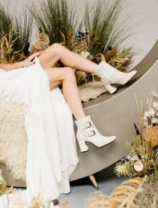 White Wedding Style Boots