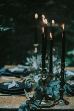 Halloween Wedding Black Candles