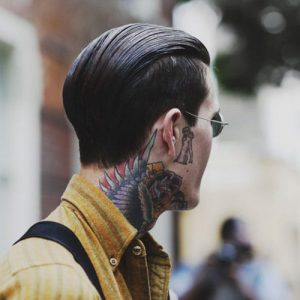 Greaser Slick Back Hair