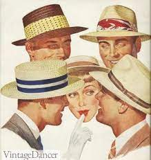 1950s Men's Straw Hats
