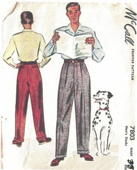 1950s Men's Trousers Slacks