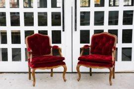 Halloween Wedding Red Velvet Chairs