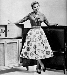 1950s Housewife Swing Dress