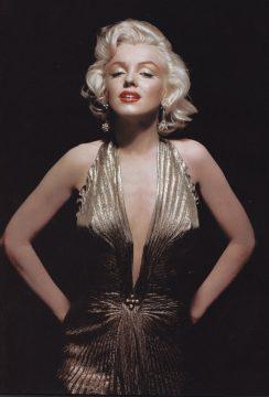 Marilyn Monroe Gold Dress